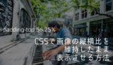 CSSで画像の縦横比を維持したまま表示させる方法