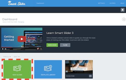 Smart Slider 3ダッシュボード