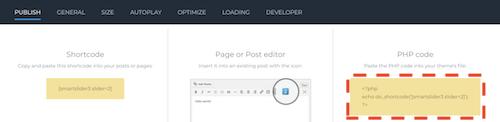 Smart Slider 3 phpコード