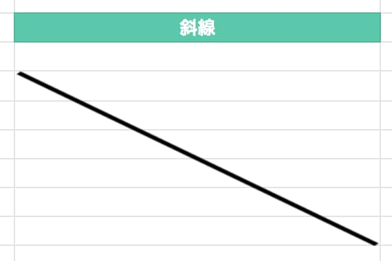 スプレッドシート 斜線サンプル