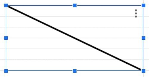 スプレッドシート 斜線