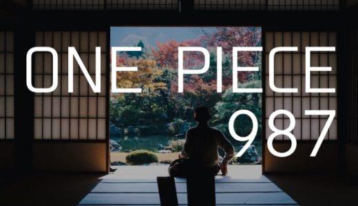 ワンピース ネタバレ感想 最新話987話「忠臣錦」【流桜を纏った赤鞘の刀はカイドウを貫く!】