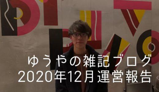 【雑記ブログ運営報告】14ヶ月目の記事数・アクセス数・収益を公開!(2020年12月分)