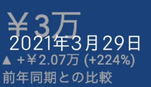 月間20万PVと、広告収入3万を同時達成!1年ぶりにモノマネ動画も【2021年3月29日の日記】