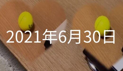 黄色いゴルフボールで足裏マッサージを【2021年6月30日の日記】